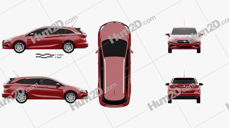 Vauxhall Astra (K) Sports Tourer Design 2016 car clipart