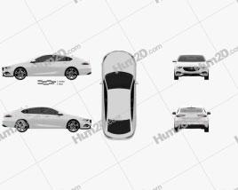 Vauxhall Insignia Grand Sport 2017 car clipart