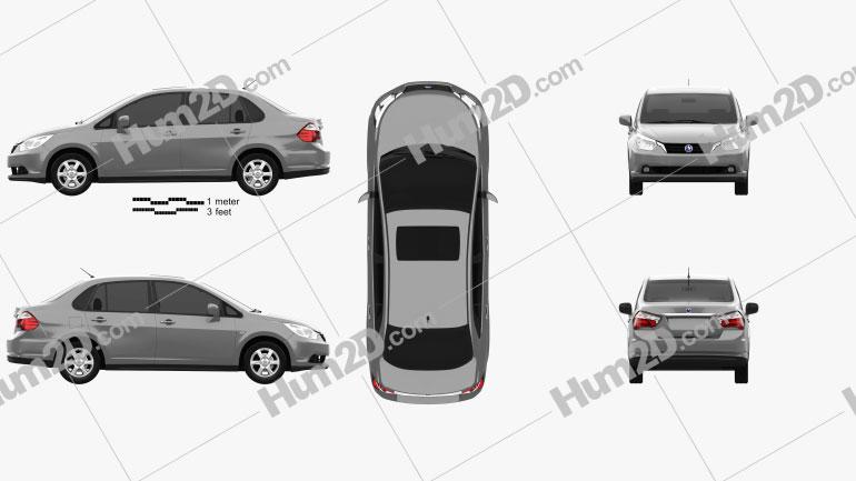 Venucia D50 2012 car clipart