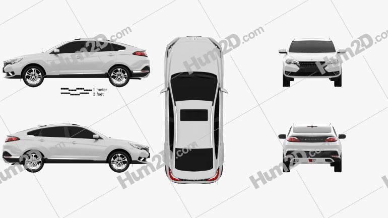 Venucia T90 2016 car clipart
