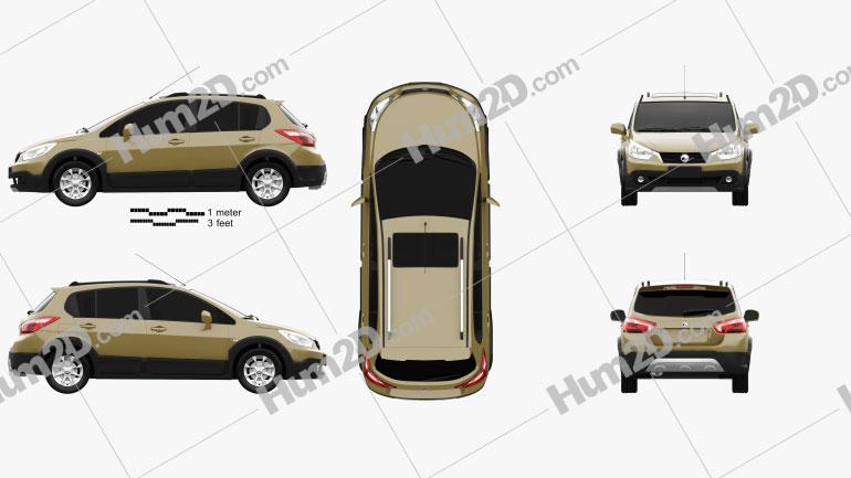 Venucia R50X 2013 car clipart