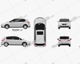 Venucia R50 2012 car clipart