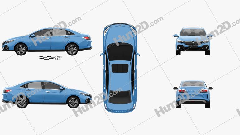 Venucia D60 EV 2019 car clipart