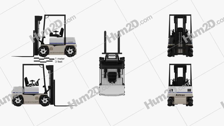 Vetex Sidewinder ATX 3000 Forklift 2011 Tractor clipart