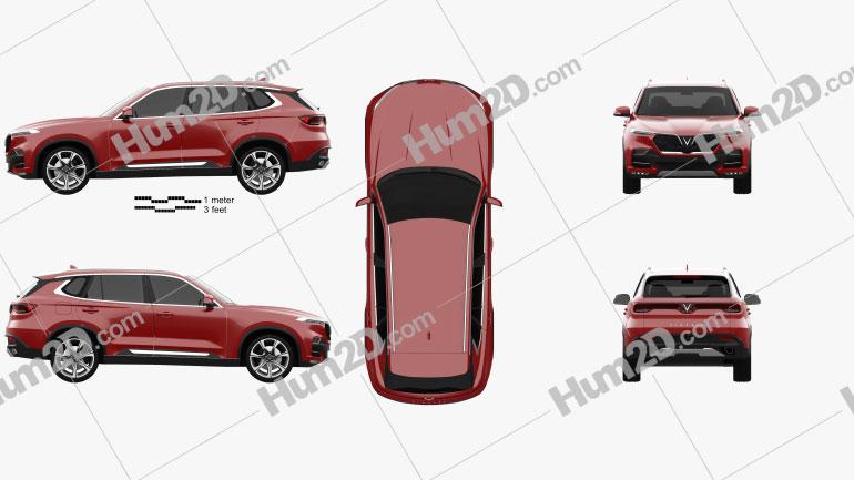VinFast LUX SA-2.0 2018 car clipart