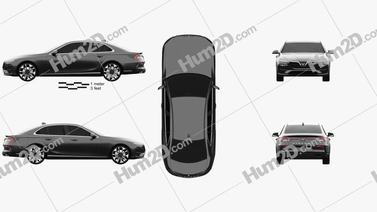 VinFast LUX A2-0 Turbo 2020 car clipart