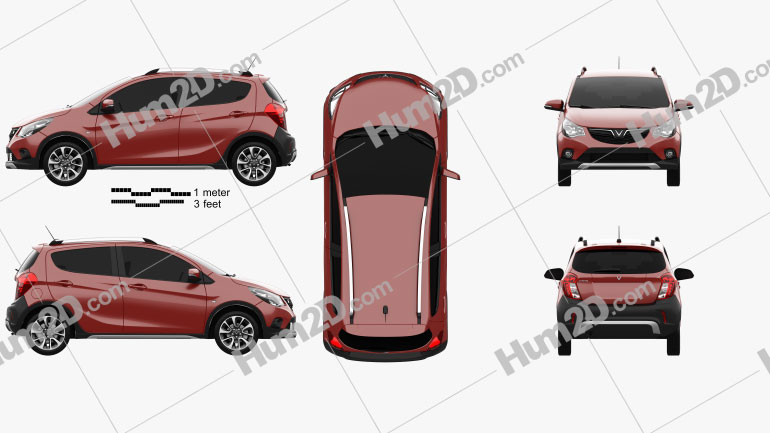 Vinfast Fadil 2019 car clipart