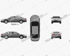 Volkswagen Phaeton 2011 car clipart