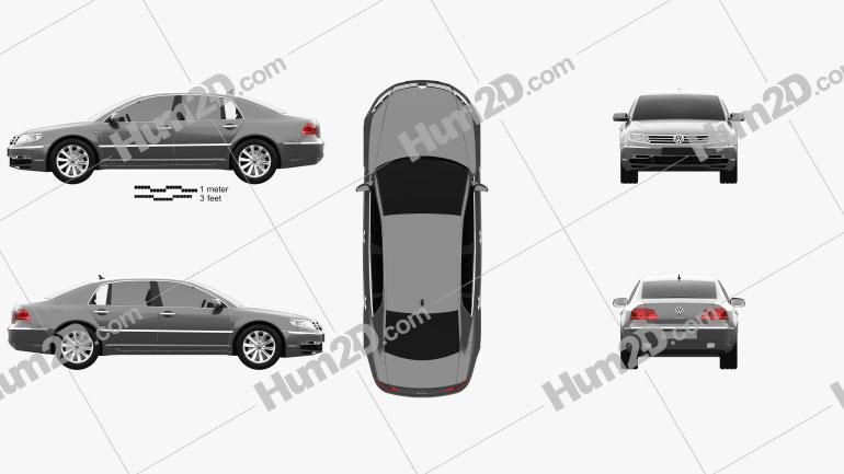 Volkswagen Phaeton 2011 Clipart Image