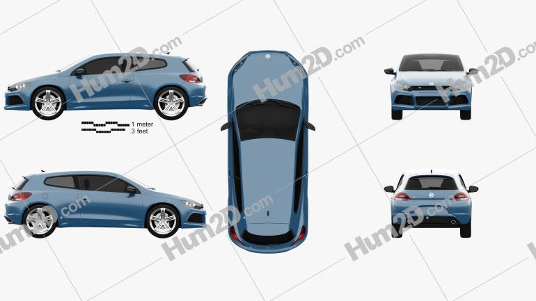 Volkswagen Scirocco R 2010 car clipart