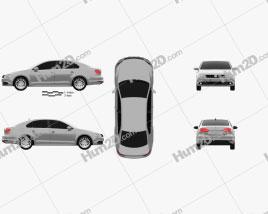 Volkswagen Jetta (Sagitar) 2011 Clipart