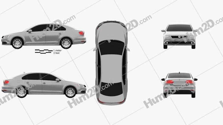 Volkswagen Jetta (Sagitar) 2011 car clipart