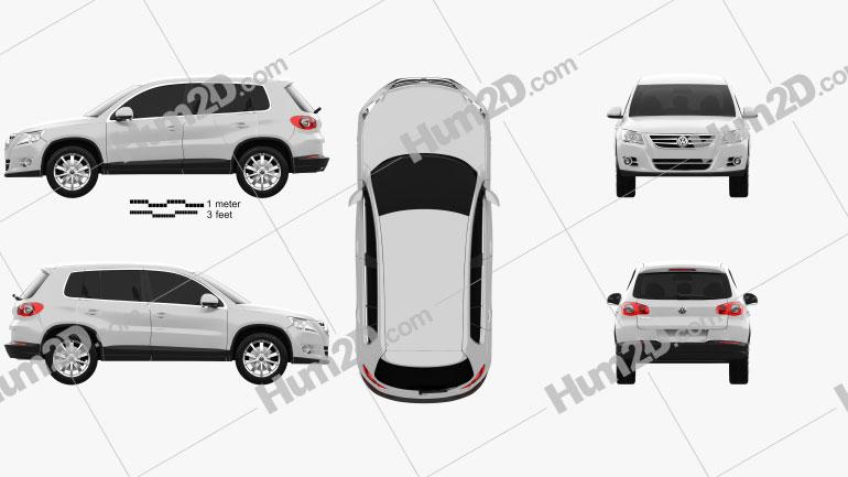 Volkswagen Tiguan 2010 car clipart