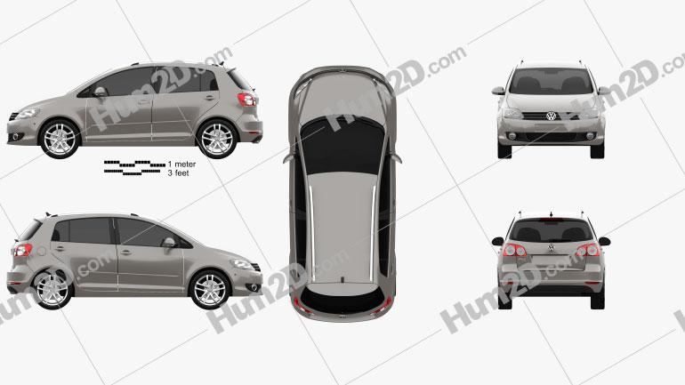 Volkswagen Golf Plus 2011 car clipart