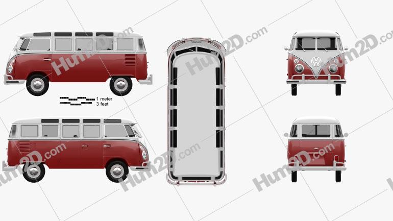 Volkswagen Transporter T1 1950 clipart