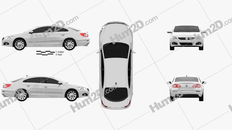 Volkswagen Passat CC 2009 car clipart