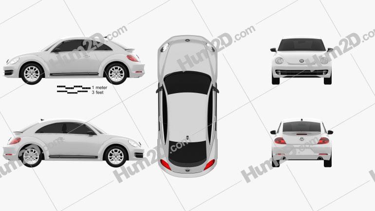 Volkswagen Beetle 2012 car clipart