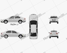 Volkswagen Jetta City car clipart