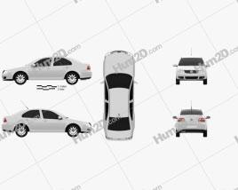 Volkswagen Bora Classic car clipart