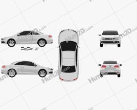 Volkswagen EOS 2012 car clipart