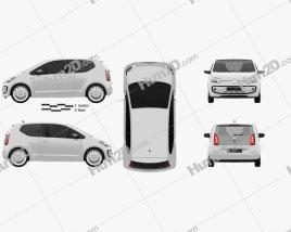 Volkswagen Up 2012 Clipart