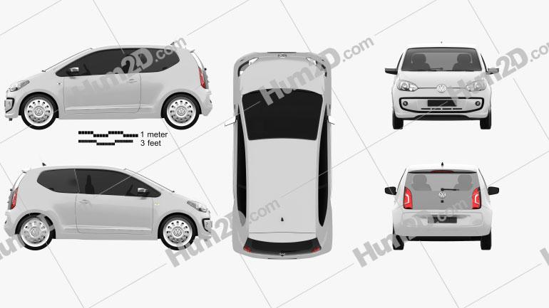 Volkswagen Up 2012 Clipart Image