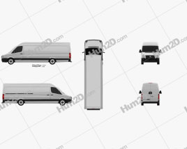 Volkswagen Crafter Extralong WB SHR 2011 clipart