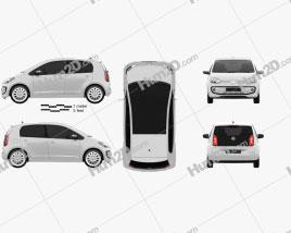 Volkswagen Up 5-door 2012 car clipart