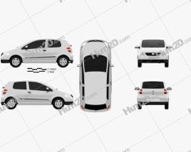 Volkswagen Fox (Lupo) 3-door 2005 car clipart