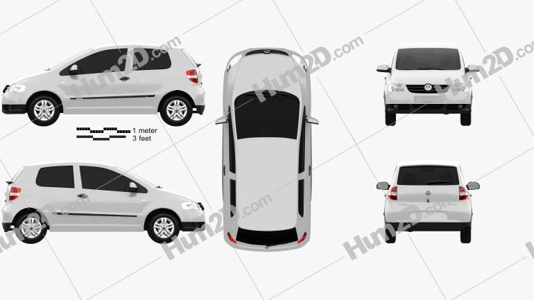 Volkswagen Fox (Lupo) 3-door 2005 Clipart Image