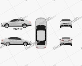 Volkswagen Passat B6 2005 Clipart