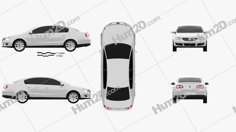 Volkswagen Passat B6 2005 Clipart Image