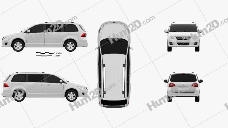 Volkswagen Routan 2012 Clipart Image