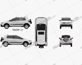 Volkswagen CrossFox 2012 car clipart