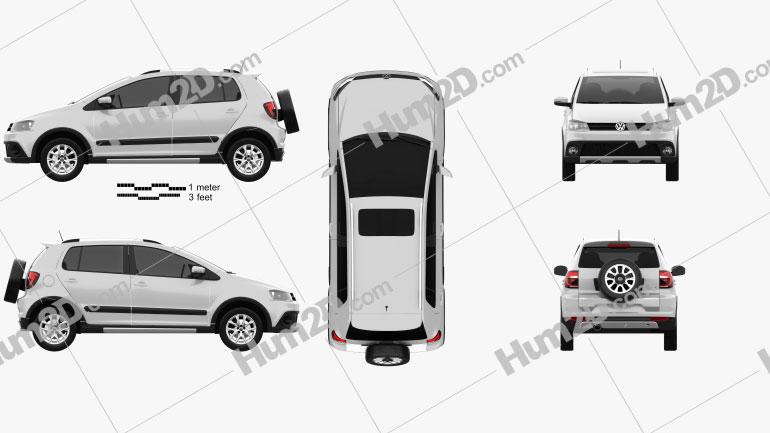 Volkswagen CrossFox 2012 Clipart Image