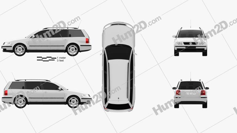 Volkswagen Passat (B5) variant 1997 car clipart