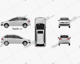 Volkswagen SpaceFox (Suran) 2012 car clipart