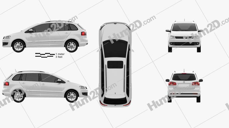 Volkswagen SpaceFox (Suran) 2012 Clipart Image
