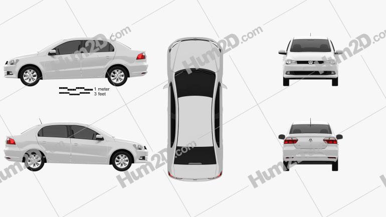 Volkswagen Voyage 2012 car clipart