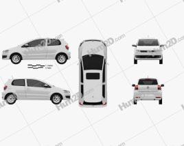 Volkswagen Fox 3-door 2012 car clipart