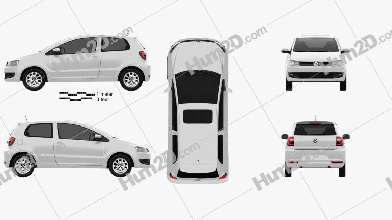 Volkswagen Fox 3-door 2012 Clipart Image