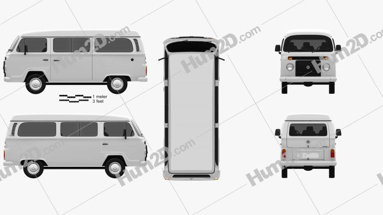 Volkswagen Kombi (T2) 2012 Clipart Image