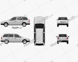 Volkswagen Parati 2012 car clipart