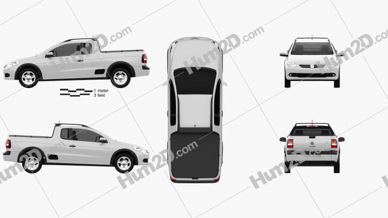 Volkswagen Saveiro 2012 car clipart