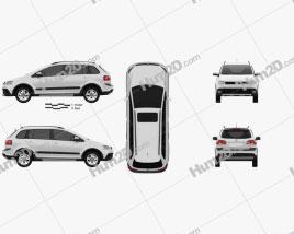 Volkswagen SpaceFox Cross (Suran) 2012 car clipart