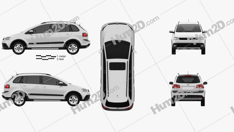 Volkswagen SpaceFox Cross (Suran) 2012 Clipart Bild