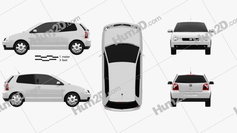 Volkswagen Polo Mk4 3-door 2001 Clipart Image