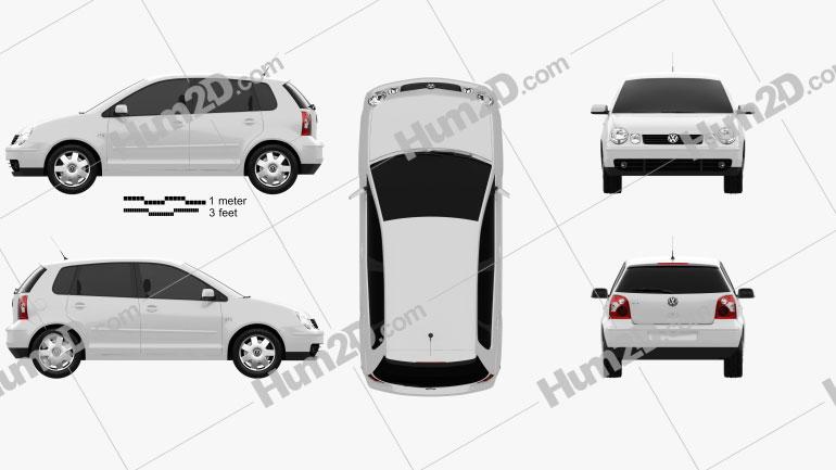 Volkswagen Polo Mk4 5-door 2001 car clipart