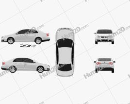Volkswagen Jetta (A5) 2010 Clipart