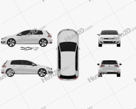Volkswagen Golf 5-door GTI 2014